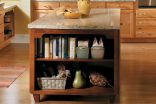 Island with Bookcase and Display Cabinet-1