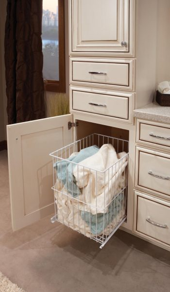 Tall Linen Cabinet With Slide Out, Tall Bathroom Linen Cabinet With Hamper