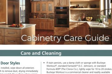 Cabinetry Care Cleaning Guide