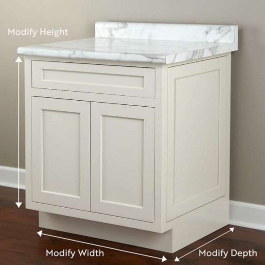 Modify Cabinet Height, Width, and Depth